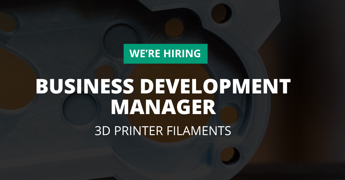 Business Development Manager 3D Printer Filaments