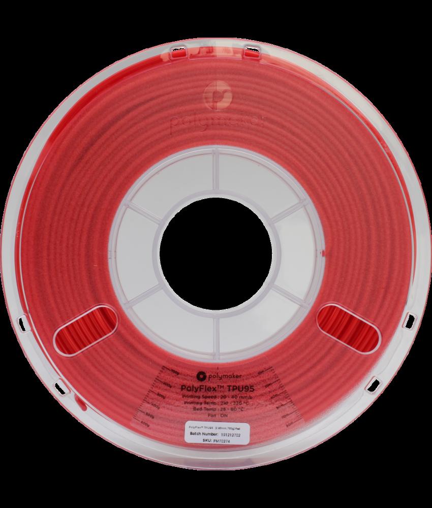 Polymaker PolyFlex TPU95 True Red 750gr
