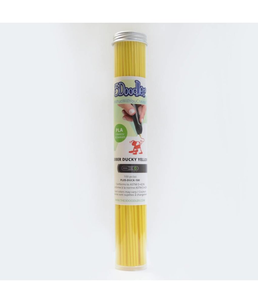 3Doodler Create Rubber Ducky Yellow PLA Tube