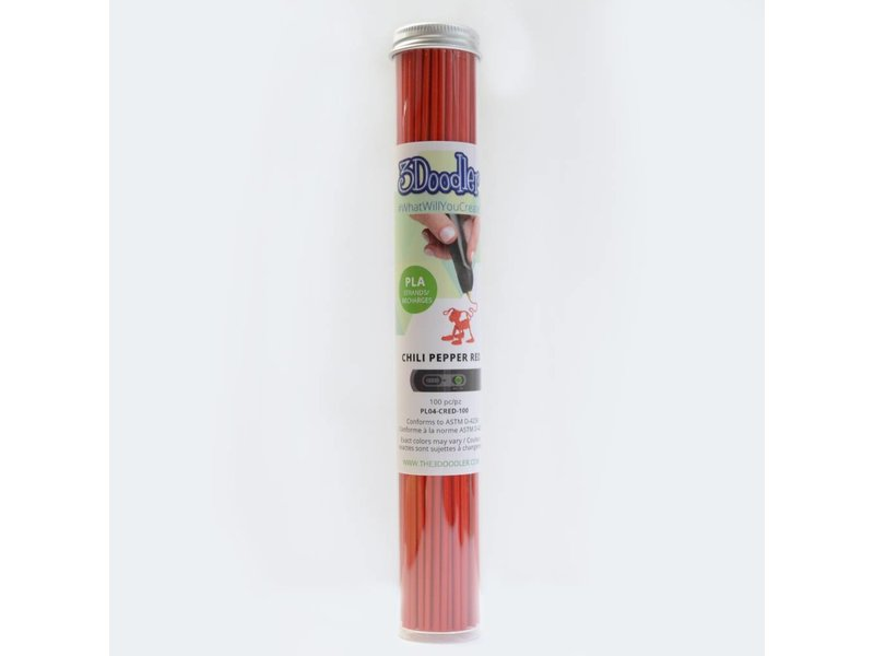 3Doodler Chili Pepper Red PLA Tube