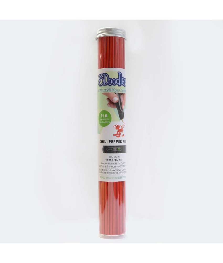 3Doodler Create Chili Pepper Red PLA Tube