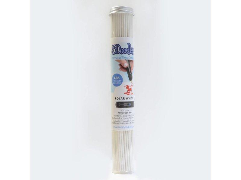 3Doodler Polar White ABS Tube