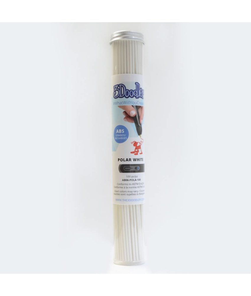 3Doodler Create Polar White ABS Tube