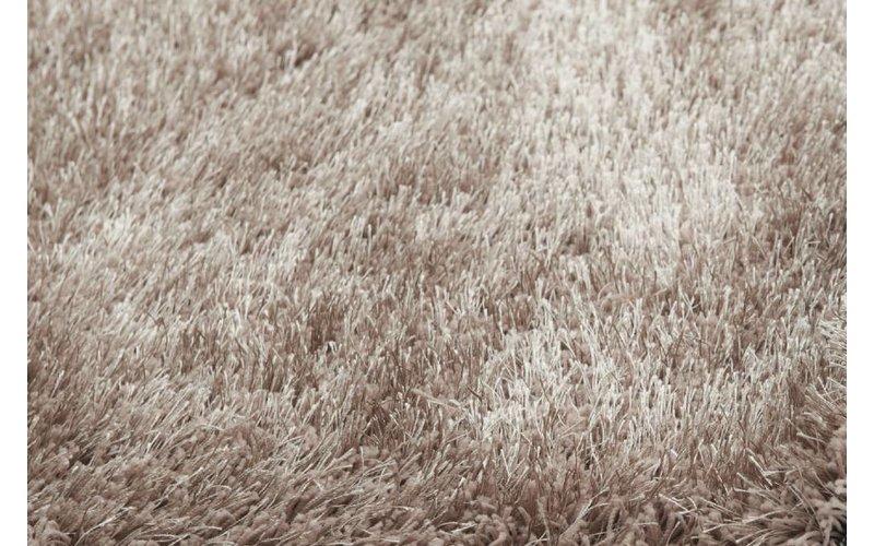 Chester 15 - hoogpolig vloerkleed in beige/bruin