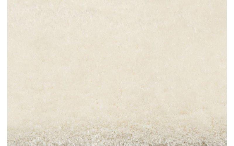 Ross 11 - Rond hoogpolig vloerkleed in witte kleurensamenstelling