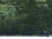 Ross 53 - Rond hoogpolig vloerkleed in blauw/groene kleurensamenstelling