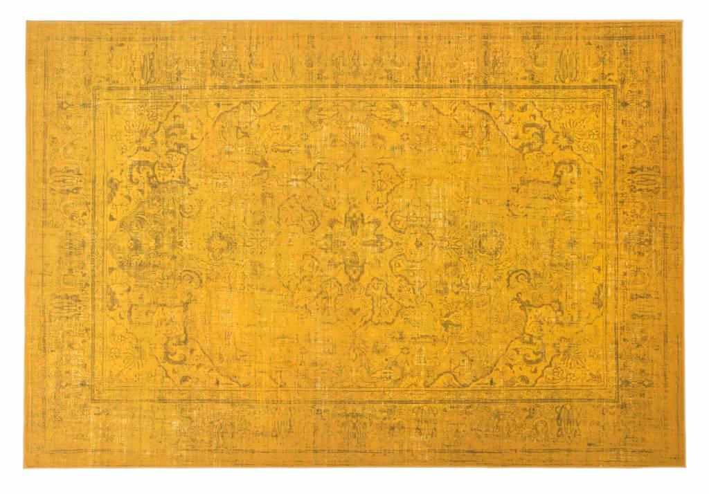 96de51f9466799 Angkor 54 - Prachtig vintage vloerkleed met oosters dessin in gele  kleurstelling
