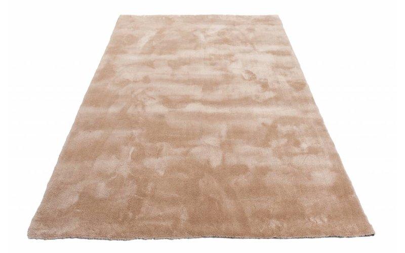 Sandro 12 - Hoogpolig vloerkleed in Beige