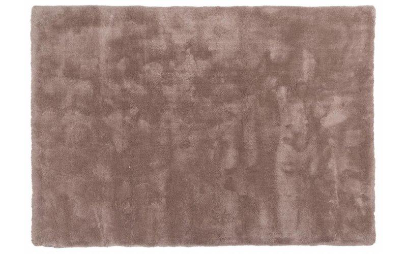 Sandro 15 - Modern hoogpolig vloerkleed in lichtbruin-uni