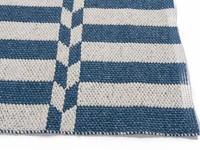 Arrow Blue - Prachtig buitenvloerkleed in wit met blauw