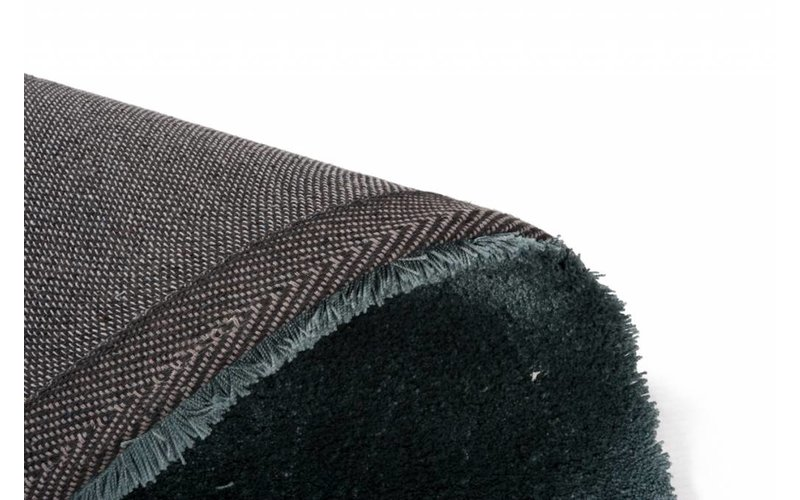 Sandro 32 - Hoogpolig vloerkleed in Faded Green