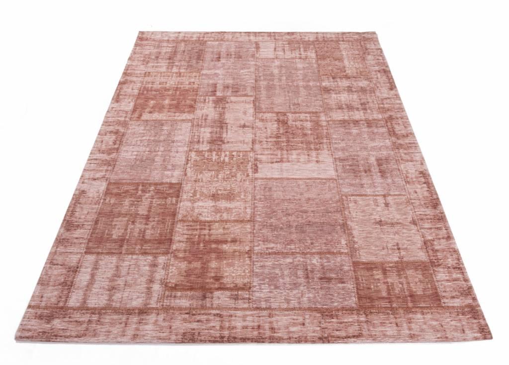 Tapijt Oud Roze : Vintage patchwork vloerkleed in oudroze enzo online bij