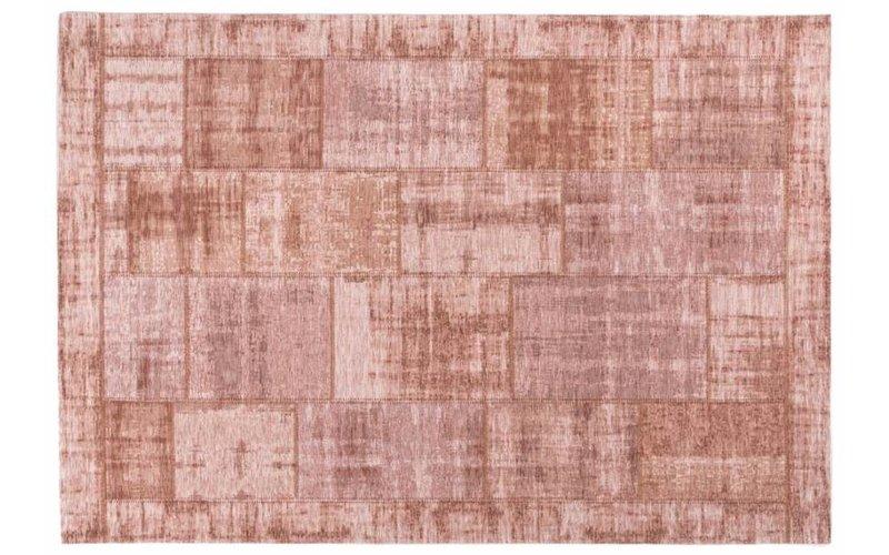 Enzo 44 - Vintage patchwork vloerkleed in Oudroze