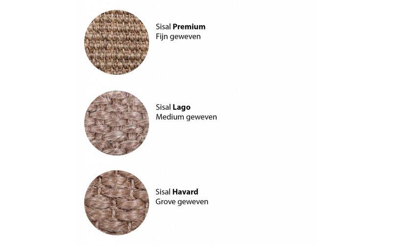 Premium 24 - Rond sisal vloerkleed met fijn geweven structuur in donkergrijs