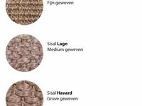 Lago Sisal 21 - Prachtig sisal vloerkleed in het zilvergrijs met taupe band