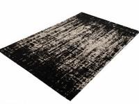 Prachtig vintage vloerkleed in zwarte kleurstelling