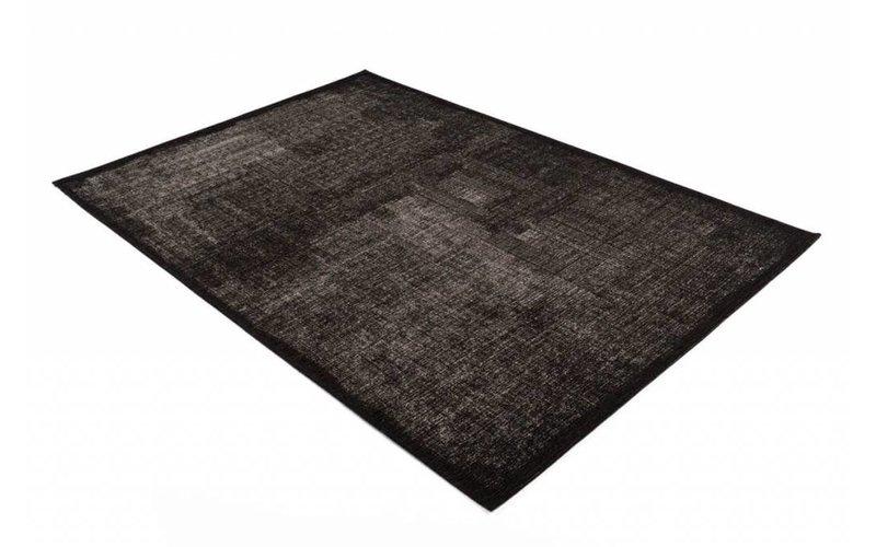 Mace 25 - Vintage vloerkleed in Zwarte kleurstelling