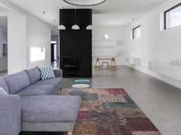 Flint 99 - Kleurrijk vloerkleed met patchwork structuren in Multi kleurstelling