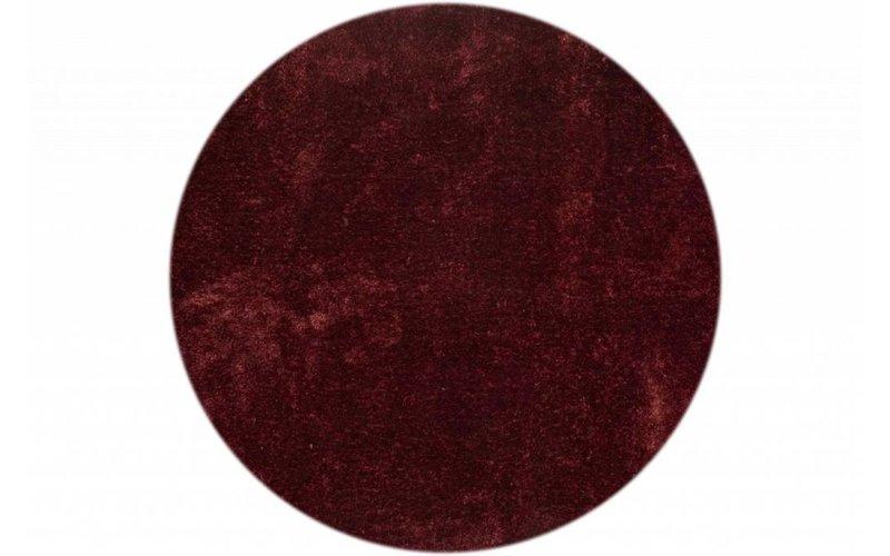 Ross 47 - Rond vloerkleed in bordeaux rood