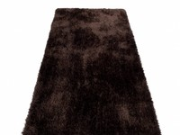Ross 19 - Hoogpolige loper in donkerbruine kleursamenstelling