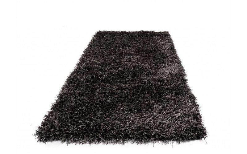 Chester 24 - Hoogpolige loper in zwarte kleursamenstelling