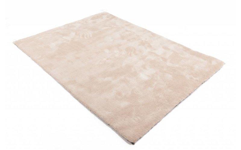 Sandro 11 - Hoogpolig vloerkleed in Ivory White