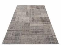 Pognum 23 - Uniek vintage vloerkleed in grijze kleurstelling