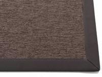 Sisal Outdoor 23 - Sisal vloerkleed voor buiten in antraciet/bruin met donkergrijze band