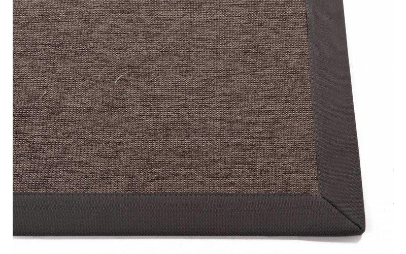 Sisal Outdoor 23 - Sisal vloerkleed voor buiten in donkergrijs met donkergrijze band