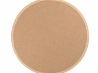 Sisal Outdoor 12 - Rond sisal vloerkleed voor buiten in beige met crème band
