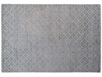 Noma 31 - Uniek geometrisch vloerkleed in pastelblauw met donkergrijze lijnen