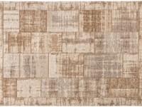 Enzo 12 - Vintage patchwork vloerkleed in Licht bruin