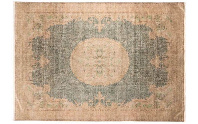 Reem 12 - Vintage vloerkleed met Oosters dessin in Beige kleurstelling