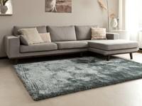 Ross 31- prachtig hoogpolig vloerkleed in lichtgrijs/blauwe kleurstelling