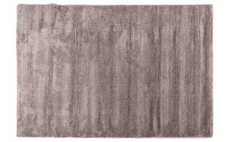 Amerie 23 - Hoogpolig vloerkleed in Donkergrijs met Lichtgrijs