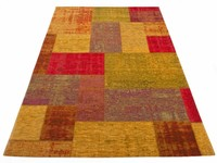 Pognum 98 - Uniek vintage vloerkleed in Multi kleurstelling