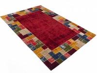 Gaia 45 - Vintage vloerkleed in Rood en Multi kleuren