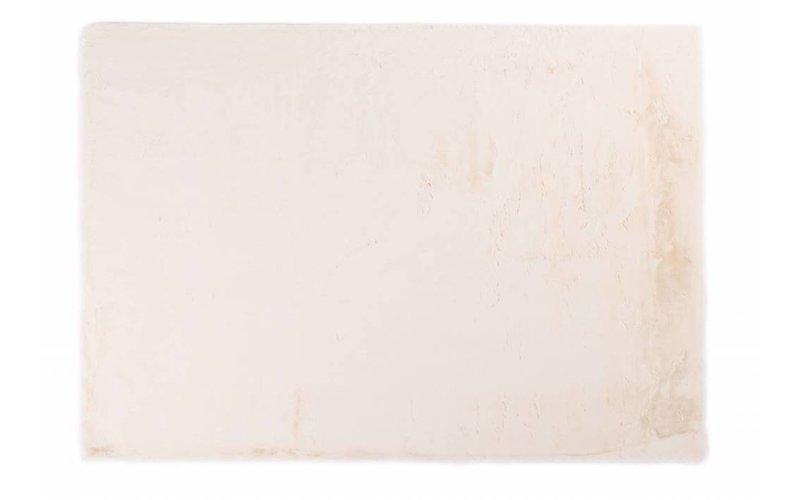 Fay Soft White - zacht hoogpolig vloerkleed in wit