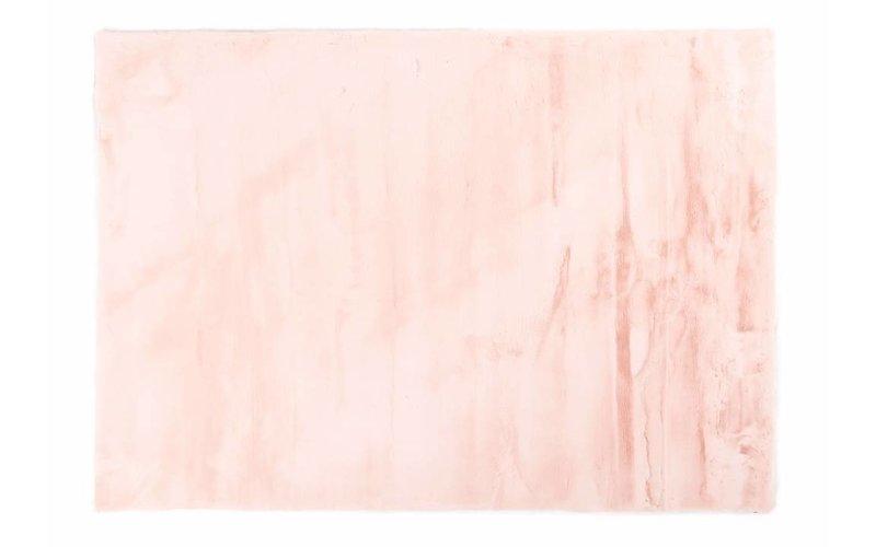 Fay Soft Pink - zacht hoogpolig vloerkleed in roze-