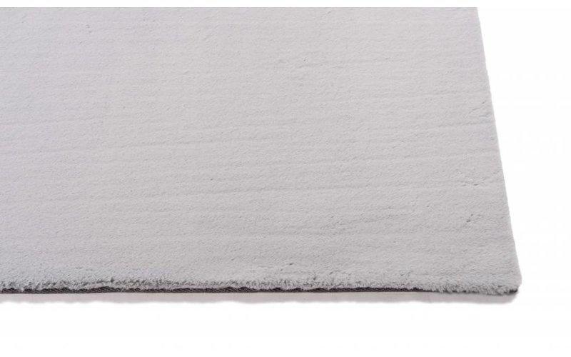 Fay Grey - zacht hoogpolig vloerkleed in grijs