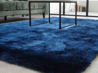 Reef 35 - Hoogpolig vloerkleed in diepe Blauw tinten