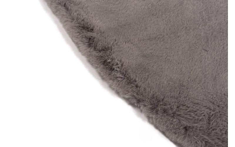 Fay Soft Dark Grey - Rond vloerkleed zacht