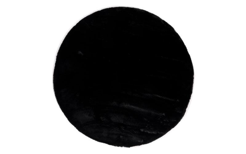 Fay Soft Black - Rond vloerkleed