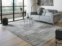 Pognum 24 - Uniek vintage vloerkleed in grijze kleurstelling