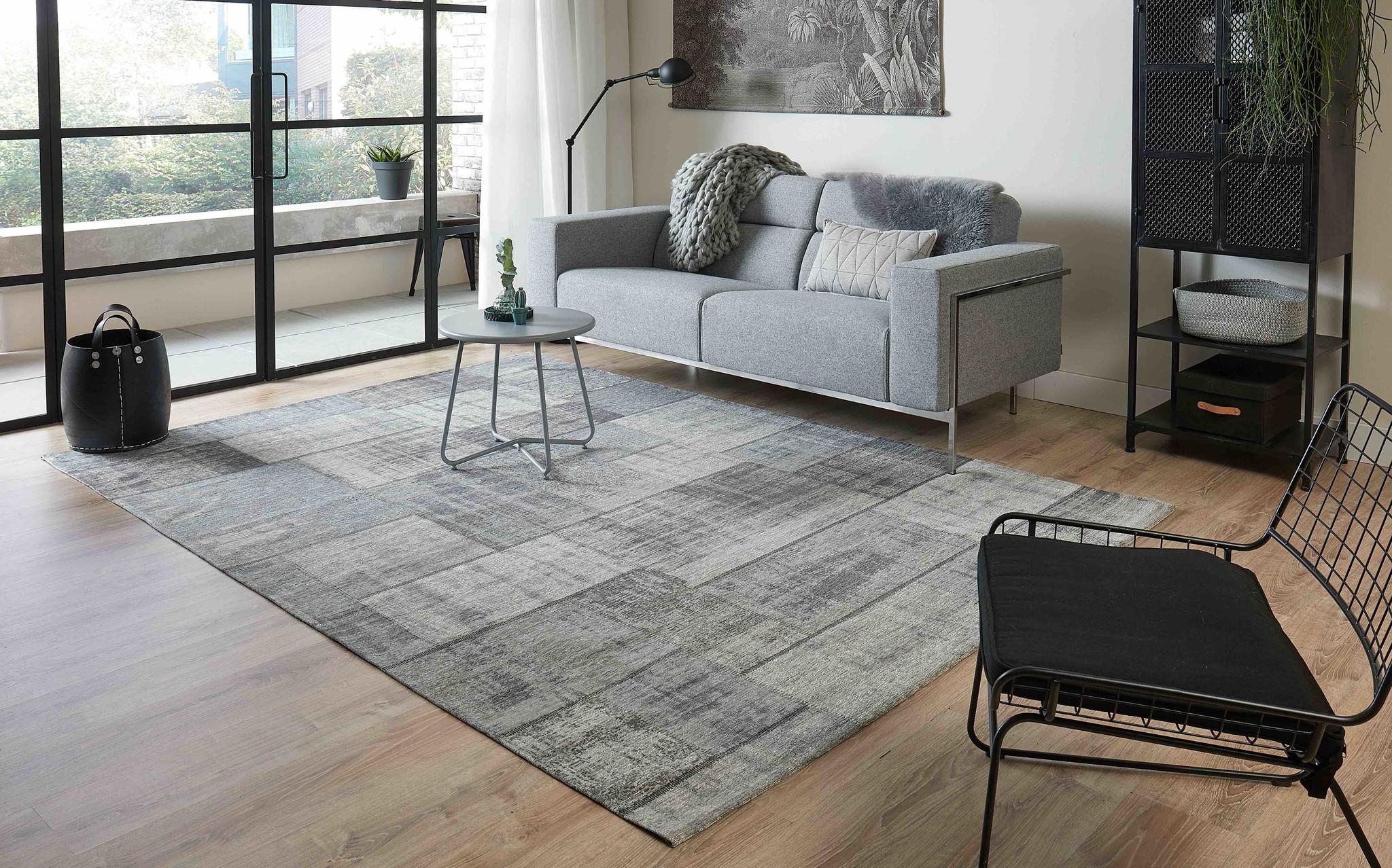 Modern Vintage Vloerkleed In Grijze Kleuren Pognum Floorpassion Nl