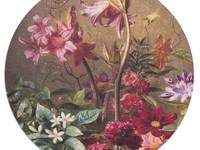 Amelie- Rond vloerkleed met bloemenpatroon
