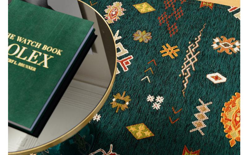 Bolivian Etis Smaragd Green -Vloerkleed by Fred van Leer