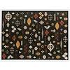 Fred van Leer Bolivian Etis Black - Stoer kleed met Azteken print by Fred van Leer