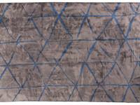 Velours vintage vloerkleed - Radisson 22 - Bruin/grijs met blauw