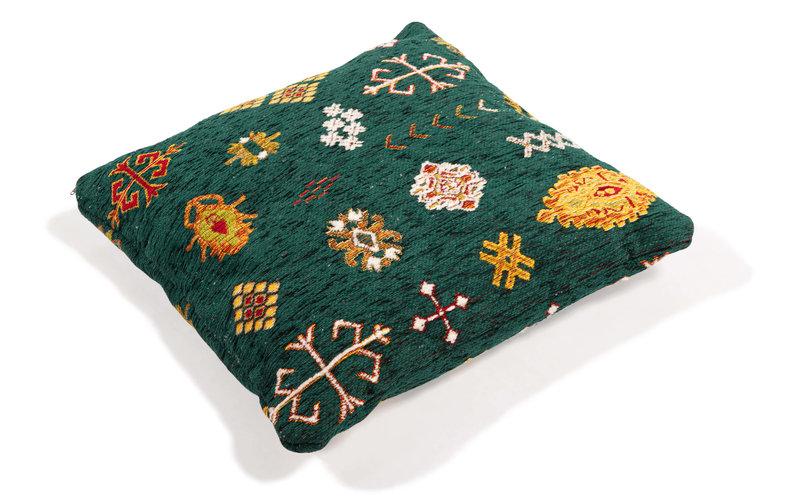Sierkussen 50x50 cm Bolivian Etis Smaragd Green